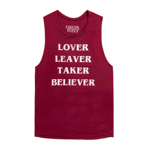 LOVER, LEAVER MUSCLE TANK