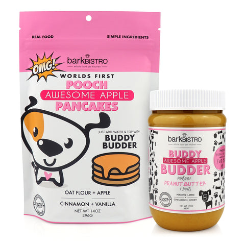 AWESOME APPLE POOCH PANCAKES + BUDDY BUDDER (bundle)