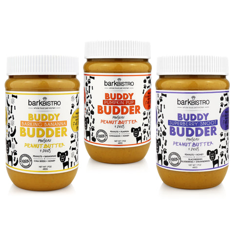 Superberry Snoot + Pumpkin Pup + Barkin Banana BUDDY BUDDER (SET OF 3)