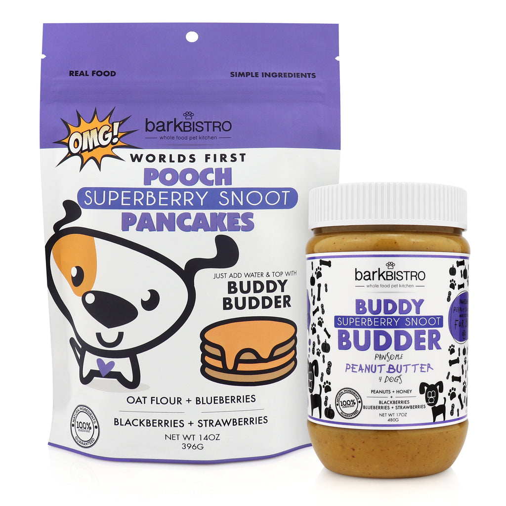 SUPERBERRY SNOOT POOCH PANCAKES + BUDDY BUDDER (bundle)