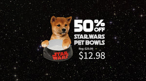 Star Wars Pet Bowl 50% OFF