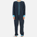 Plaid Onesie - Blue