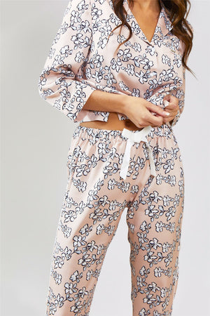 Mix and Match Floral Trousers in Blush Pink