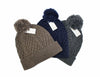 Men's Classic Navy Cable Knit Beanie
