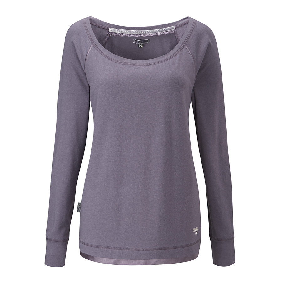 Womens Lounge Top in Smokey Pearl