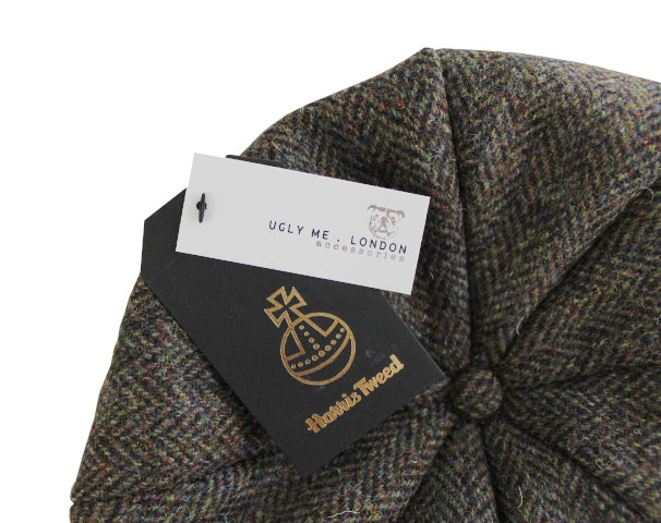 Men's Harris Tweed Bakerboy Hat