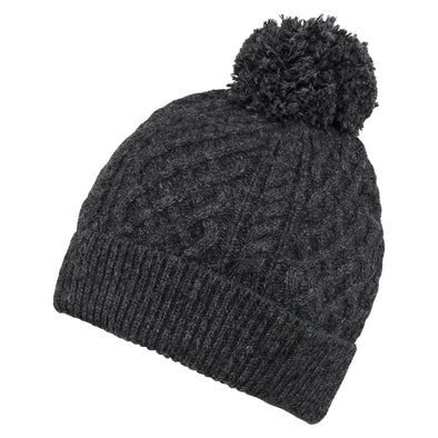 Men's Classic Charcoal Grey Cable Knit Beanie