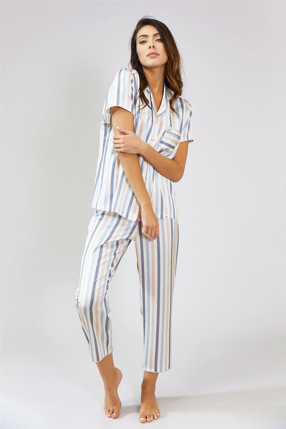 Womens Nightwear Trousers - Candy in Multi Stripe