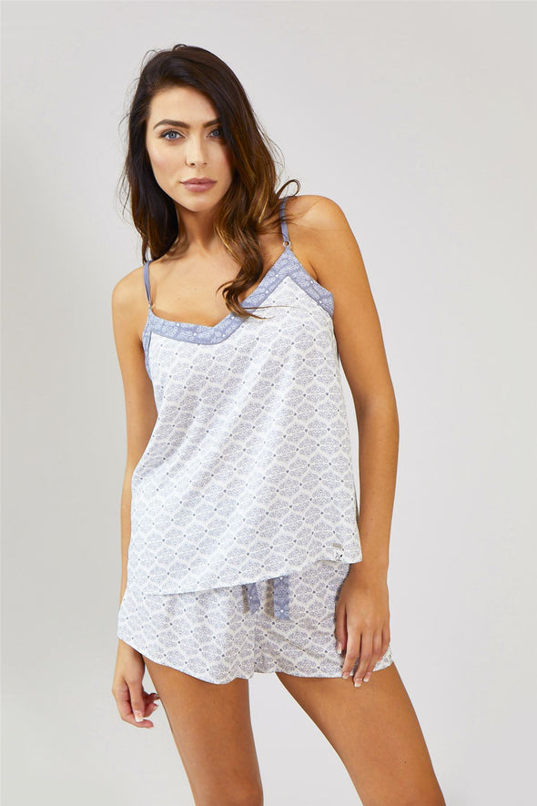 Womens Nightwear Cami Top - Romance White