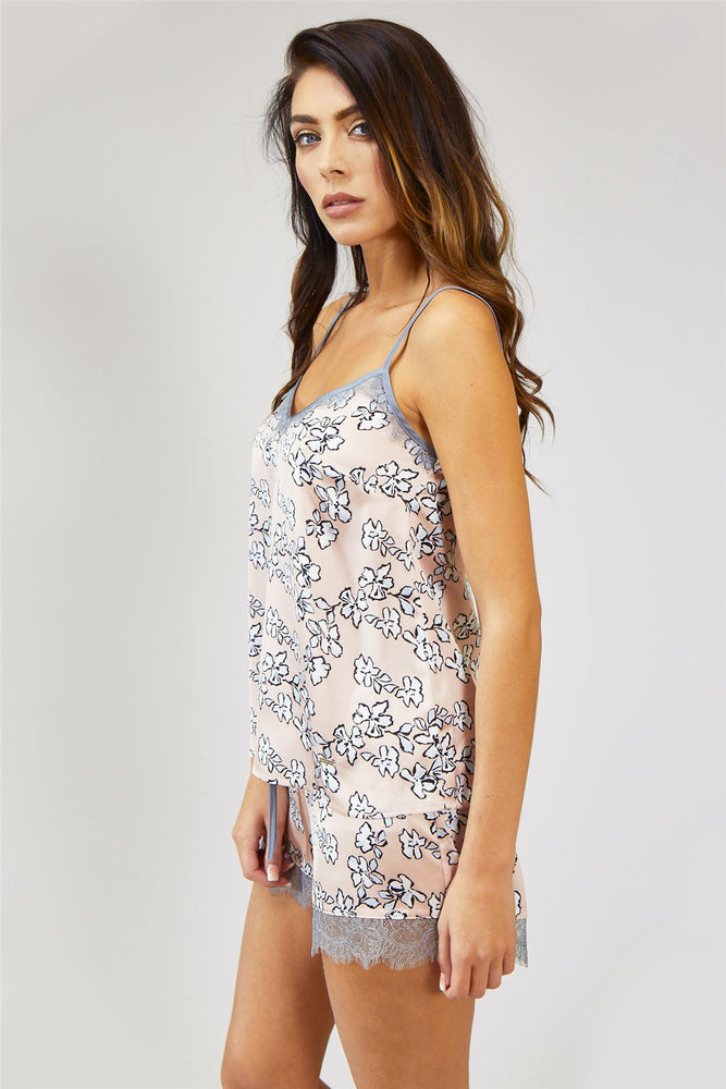 Mix and Match Floral Cami Top in Blush Pink (Cami only)