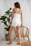 Womens Bamboo Cami and Short Pyjama Set Cream