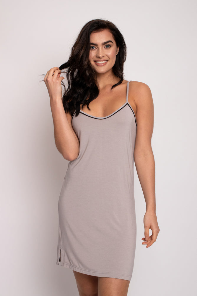 Bamboo Chemise Nightdress in Mink