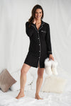 Womens Bamboo Nightshirt Black