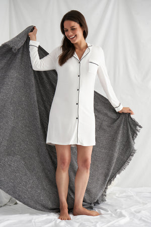 Bamboo Nightshirt in Cream
