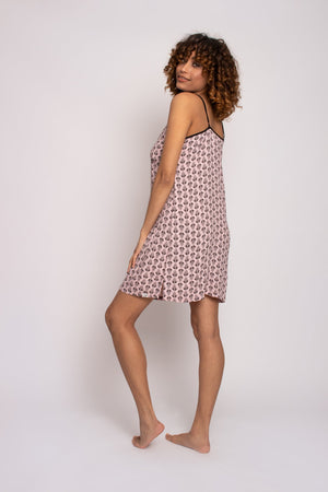 Load image into Gallery viewer, EcoVero Chemise Nightdress in Pink