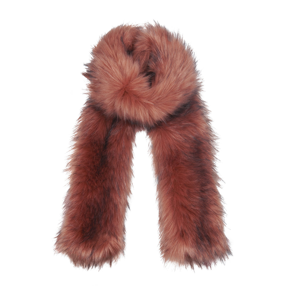 Load image into Gallery viewer, Premium Pink Faux Fur Scarf