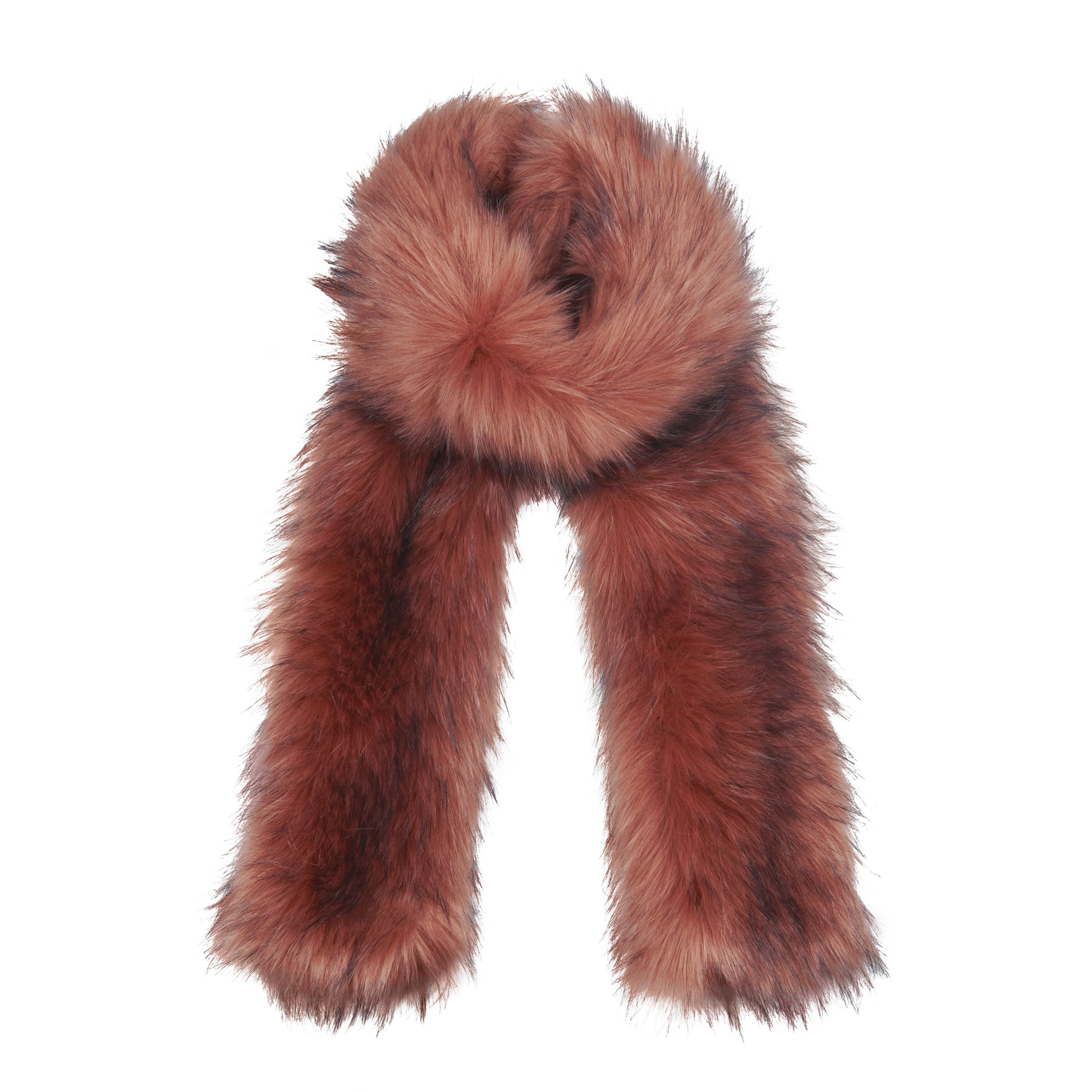 Womens Pink Faux Fur Scarf from Pretty You London 9701aa941985