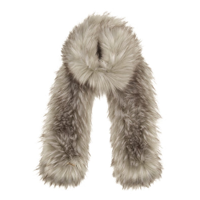 Premium Grey Faux Fur Scarf