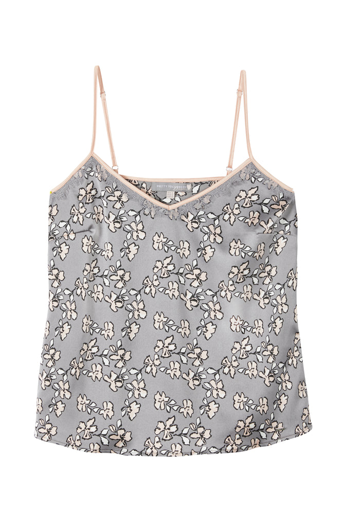 Load image into Gallery viewer, Mix and Match Floral Cami Top in Dove Grey (Cami only)