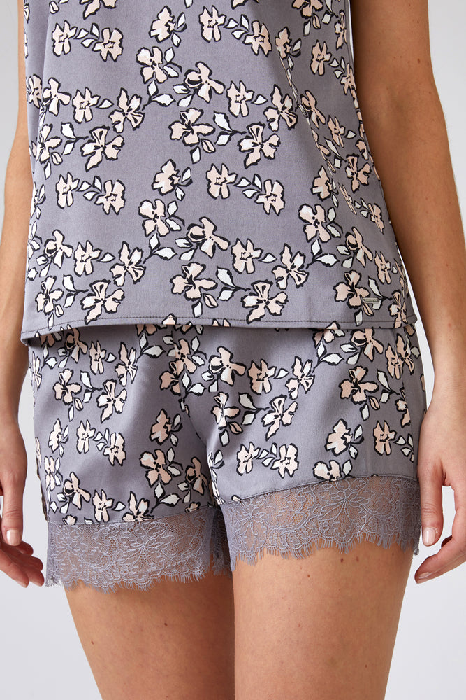 Mix and Match Floral Shorts in Dove Grey (Shorts only)