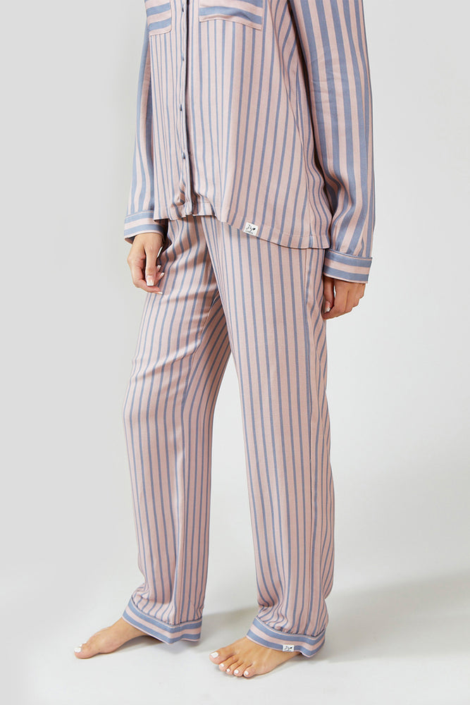 Load image into Gallery viewer, Stripe Pyjama Set in Pink/Grey