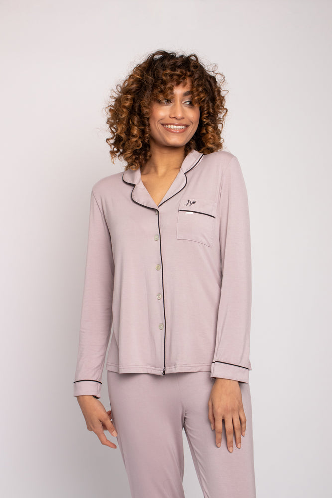 Load image into Gallery viewer, Bamboo Pyjama Set in Oyster