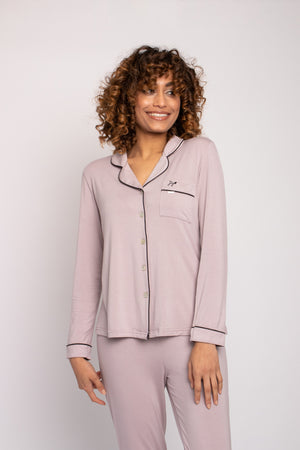 Bamboo Pyjama Set in Oyster