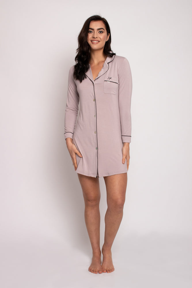 Load image into Gallery viewer, Bamboo Nightshirt in Oyster