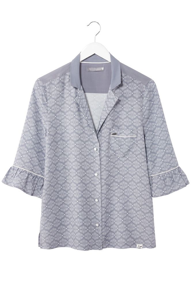 Mix and Match Blouse in Romance Grey (Blouse only)
