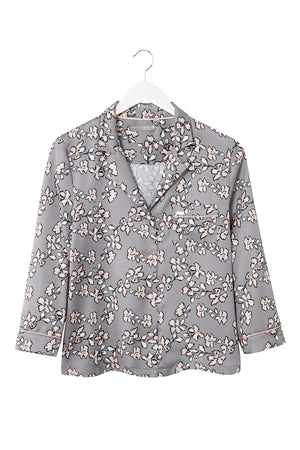 Mix and Match Floral Shirt in Dove Grey (Shirt only)