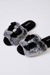 Womens Slider Slippers Cleo in Black