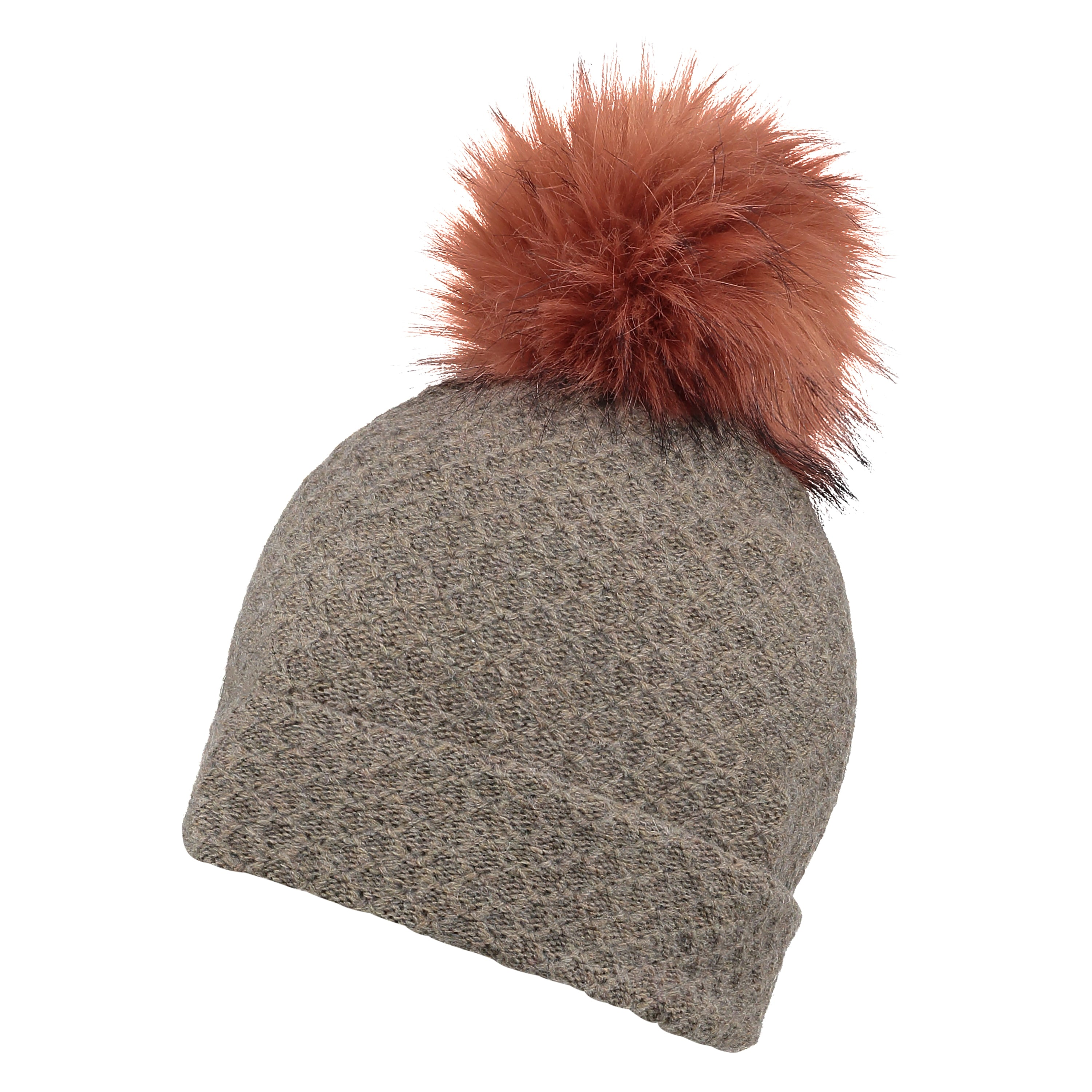 Womens Pink Hat with Giant Pom from Pretty You London 7537217ce1b