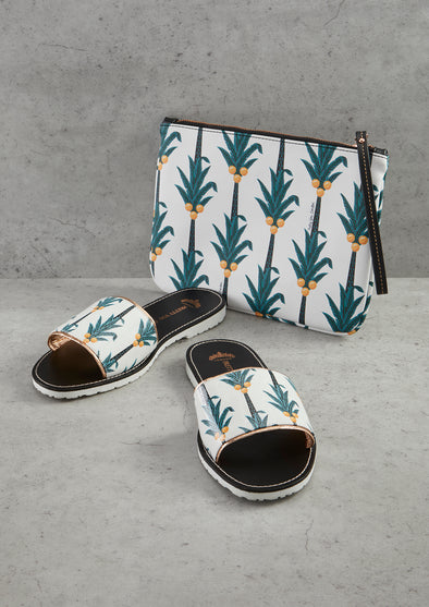 Coconut Printed Slide & Clutch Set