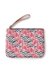 Womens Zig Zag Printed Slide & Clutch Set