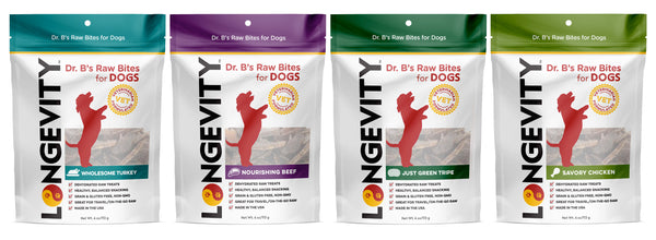 Longevity Raw Bites Treats Are Here!