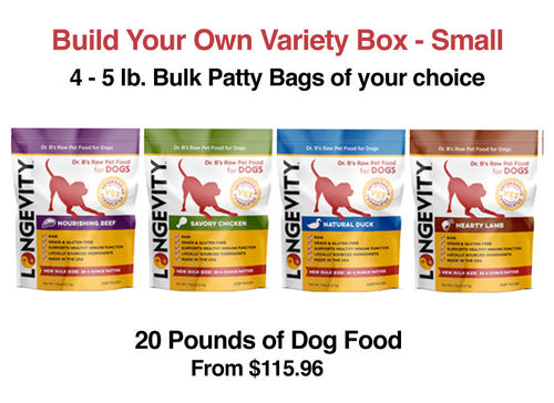 Build Your Own 5lb. Bulk Dog Food Patty Bundle - Small