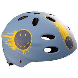 Smiley Street Sunshine Casque Bleu/Jaune - Miscooter