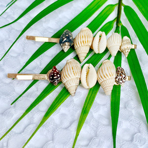 Shell Collector Salty Hair Pins
