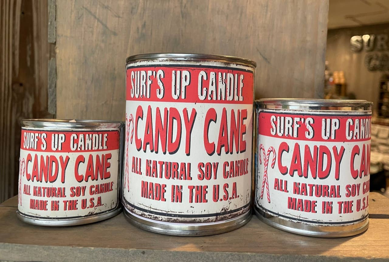 Candy Cane Paint Can Candle