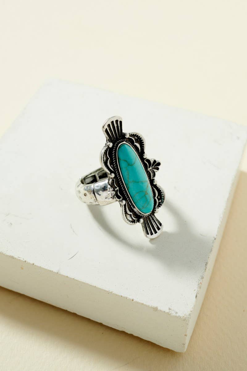 Squash Blossom Adjustable Ring