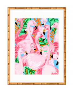 Flamingo Party Fine artwork print