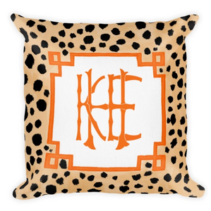 Faux Bamboo, custom monogram pillow