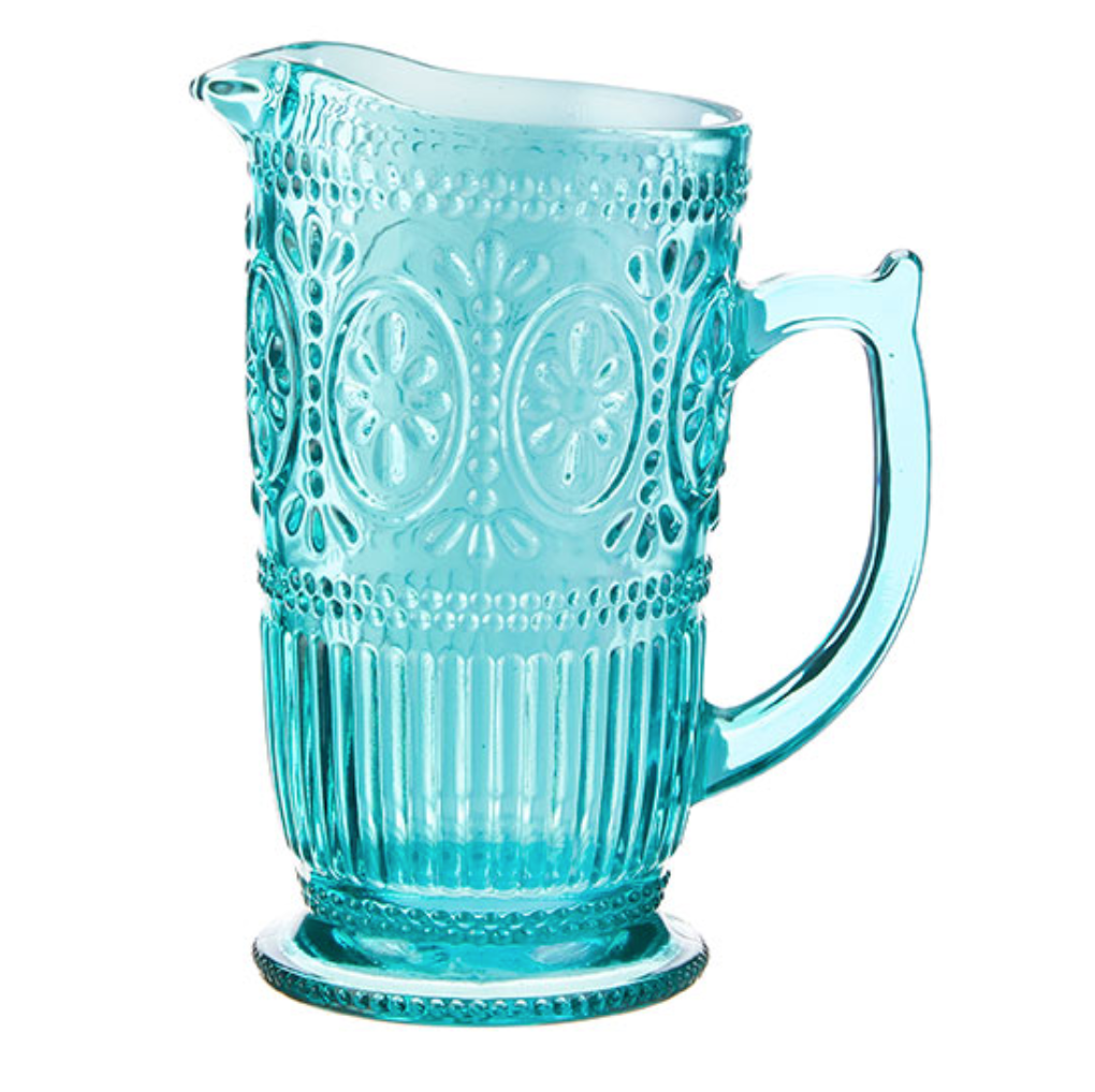 Aqua Glass Pitcher