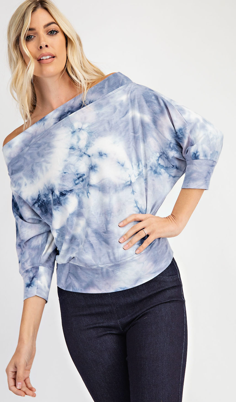 Off The Shoulder Tie Dye