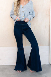 Stevie Super Flare Bell Bottom Jean - Dark Wash
