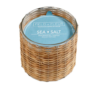Sea Salt 2 Wick Handwoven Candle