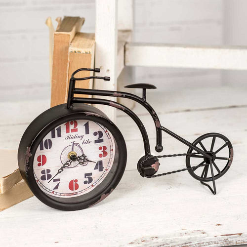 Black Bicycle Tabletop Clock - Cakra Ardor