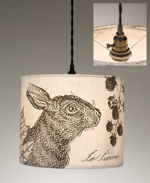 The Hare Canvas Pendant Lamp - Cakra Ardor