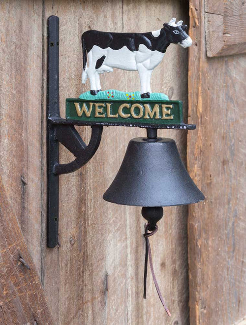 Cast Iron Welcome Bell with Cow - Cakra Ardor