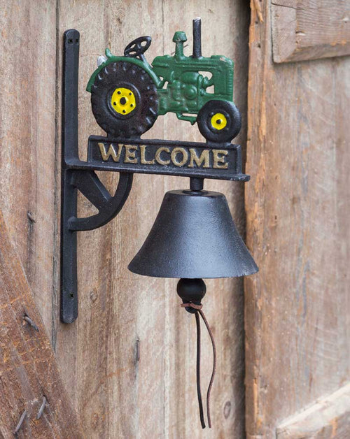 Cast Iron Welcome Bell with Tractor - Cakra Ardor